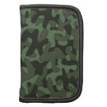 Dark Green Camouflage Pattern Folio Planners