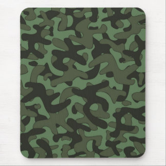 Dark Green Camouflage Pattern Mousepad