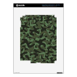 Dark Green Camouflage Pattern iPad 3 Skin