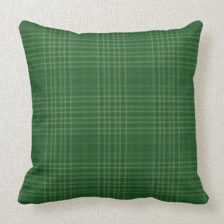 Dark Green Classic Plaid Indoor Pillow 20X20