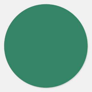Dark Green Classic Round Sticker