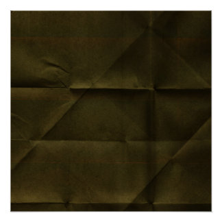 DArk Green Creased Paper BAckground Poster
