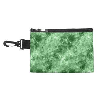 Dark Green Crumpled Texture Accessory Bag