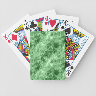 Dark Green Crumpled Texture Bicycle Playing Cards