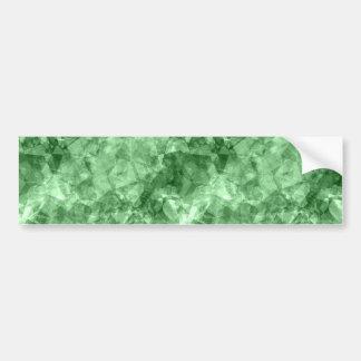 Dark Green Crumpled Texture Bumper Sticker