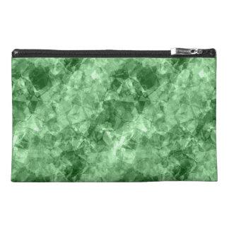 Dark Green Crumpled Texture Travel Accessory Bag