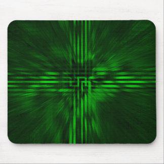 Dark Green Cyber Mousepad