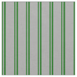 [ Thumbnail: Dark Green & Dark Grey Colored Stripes Fabric ]