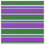 [ Thumbnail: Dark Green, Dark Violet, and Powder Blue Lines Fabric ]