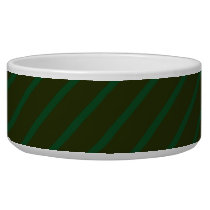 Dark Green Diagonal Striped Pattern. Bowl