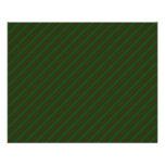 Dark Green Diagonal Striped Pattern. Custom Flyer