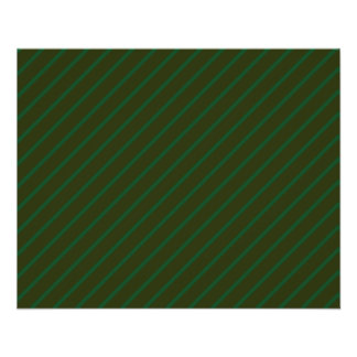 "Dark Green Diagonal Striped Pattern. 4.5"" X 5.6"" Flyer"