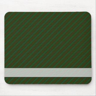 Dark Green Diagonal Striped Pattern. Mouse Pad