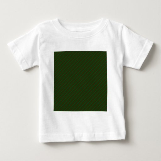Dark Green Diagonal Striped Pattern. Tee Shirt