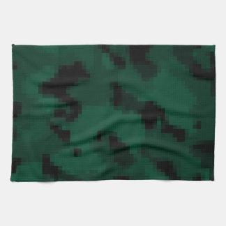 Dark Green Digital Camo; Camouflage Kitchen Towel
