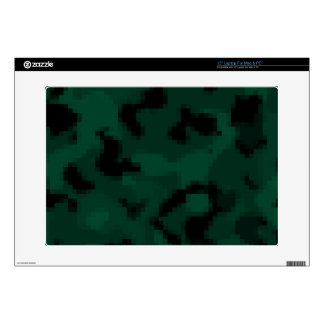 """Dark Green Digital Camo; Camouflage Decal For 15"""" Laptop"""