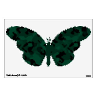 Dark Green Digital Camo; Camouflage Wall Graphic