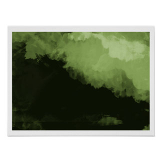 dark green digital landscape poster