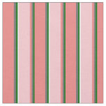 [ Thumbnail: Dark Green, Dim Grey, Light Coral, Pink & White Fabric ]