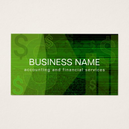 Abstract Accounting Dollar Sign Business Cards