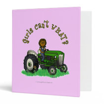 Dark Green Farmer Girl Vinyl Binder