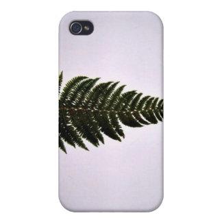 Dark green fern leaf covers for iPhone 4