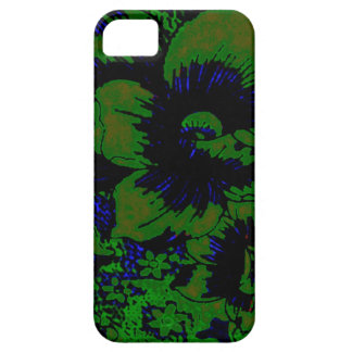 Dark Green Floral iPhone 5 Mate Barely There Case