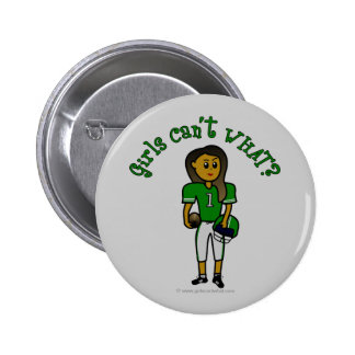Dark Green Football Button