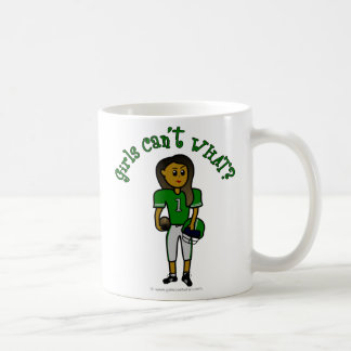 Dark Green Football Coffee Mug