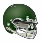"Dark Green Football Helmet Ornament<br><div class=""desc"">Football helmet ornament.  Great gift for the football fan,  player or coach.  Many different color combinations  available.</div>"