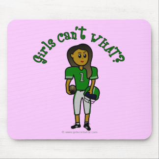 Dark Green Football Mouse Pad