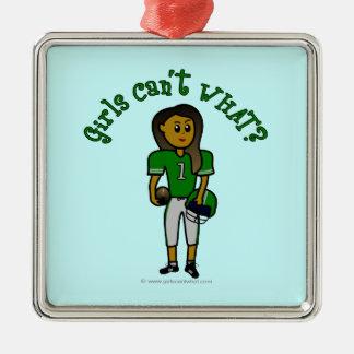 Dark Green Football Ornament