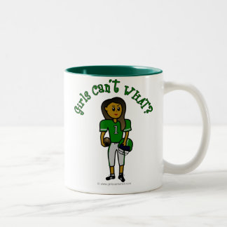 Dark Green Football Two-Tone Coffee Mug