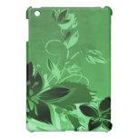 Dark Green Garden Floral iPad Mini Covers