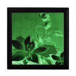 Dark Green Garden Floral Keepsake Boxes