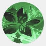 Dark Green Garden Floral Sticker