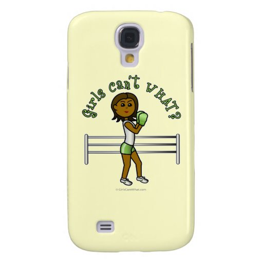 Dark Green Girls Boxing Galaxy S4 Covers