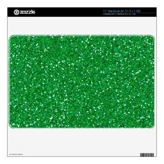 Dark Green Grass Glitter Mac air Skin MacBook Air Skins