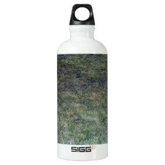 Dark Green Grassy Background Aluminum Water Bottle