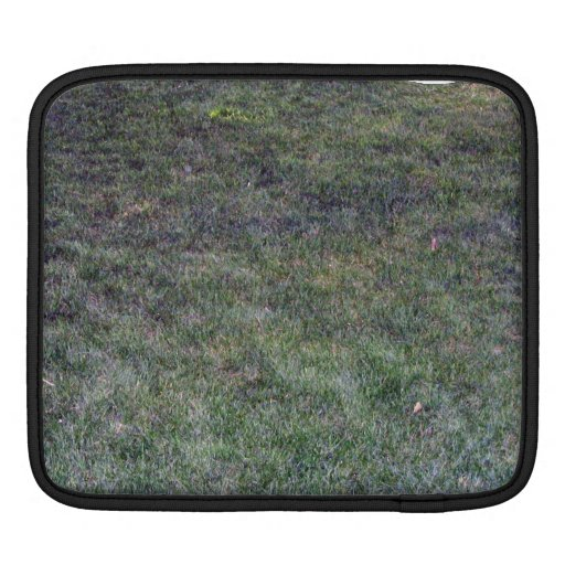 Dark Green Grassy Background Sleeve For iPads