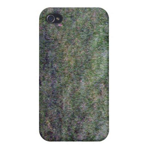Dark Green Grassy Background iPhone 4 Cases