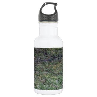 Dark Green Grassy Background Water Bottle