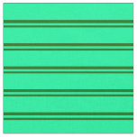 [ Thumbnail: Dark Green & Green Colored Pattern of Stripes Fabric ]