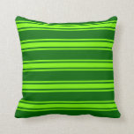 [ Thumbnail: Dark Green & Green Colored Pattern Throw Pillow ]