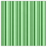 [ Thumbnail: Dark Green & Green Pattern of Stripes Fabric ]