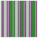 [ Thumbnail: Dark Green, Grey, and Purple Pattern Fabric ]