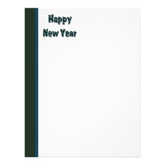 Dark Green Happy New Year Flyer Design