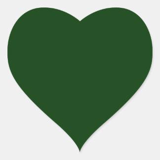 Dark Green Heart Sticker