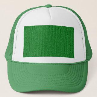 Dark Green Knit Stockinette Stitch Pattern Trucker Hat
