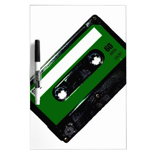Dark Green Label Cassette Dry Erase Whiteboards